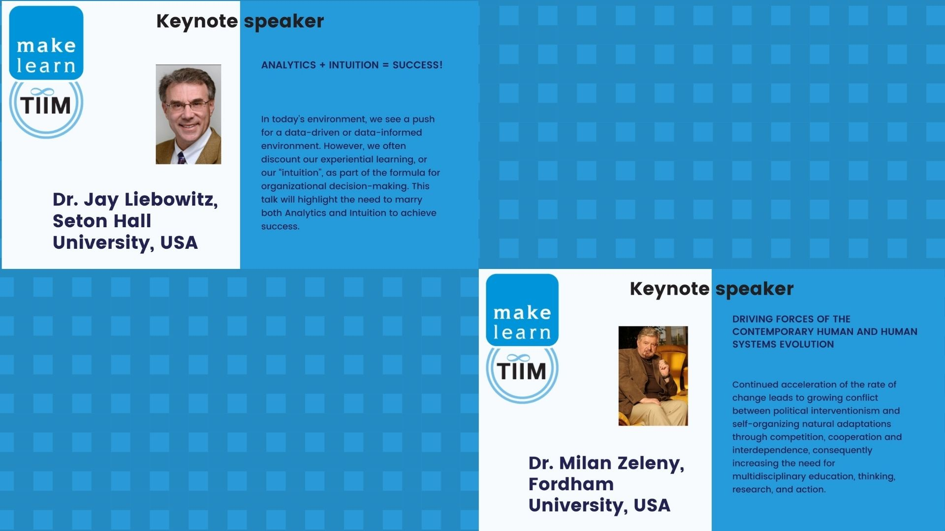 Keynote speeches at Makelearn & TIIM Conference 2021